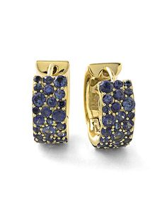 Y2SYT Ippolita 18k Glamazon Stardust Small Sapphire Hoop Earrings