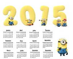 http://calendariosgratuitos.blogspot.com.br/2014/09/calendario-2015-png-minions-despicable.html