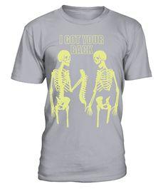 Halloween Skeleton I Got Your Back Funny T shirt