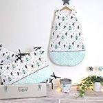 Pour Tiphaine qui attend la chambre de son bébé avec impatience! Elle a eu un coup de coeur pour la collection tipi-cactus/navajo mint avec une grande gigoteuse, un tour de lit et un panier de rangement.  #tipi #navajo #cactus #mint #tourdelit #gigoteuse #bebe #indien #chambrebebe #chambreenfant #babyroom #cute #designforkids #design #faitmain #lokee #kimsadesign #instadeco #decokids #handmade #vosjoliescommandes #jadore