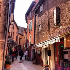 The Quaint streets of Roussillon in Provence.