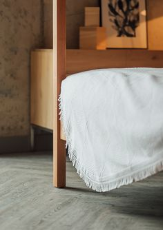 The Porto bedspread on our 4 poster bed - Natural Bed Company Best Bedding Sets, Bedding Sets Online, Matching Bedding And Curtains, White Bedding, Hotel Bedroom Design, 4 Poster Beds, Bed Company, Natural Bedding, Cozy Bed