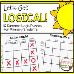 Logic Puzzles Summer Fun grid puzzles that are great for critical thinking, problem solving, early finishers, and more! Reading Response Activities, Critical Thinking Activities, Back To School Activities, Math Activities, Summer Activities, Physics Classroom, 2nd Grade Classroom, Logic Puzzles, Grid Puzzles