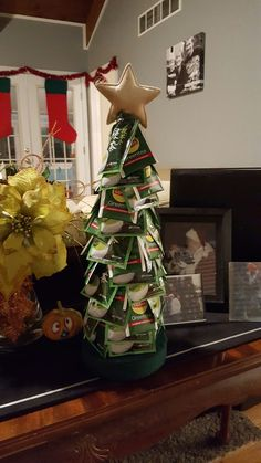 Tea bag Christmas tree gift