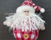 Round Body Santa Claus Fabric Felt Christmas Tree Decoration Hanging Crochet Ornament