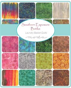 Southern Exposure Batik patchwork and quilting fabric, cold spell layer cake, moda, Laundry Basket Quilts