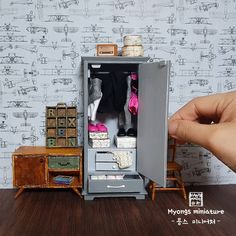 2018.04 Miniature Cabinet Dollhouse ♡ ♡ myongs miniature