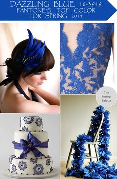 Blue and White Wedding Ideas - The Perfect Palette: Dazzling Blue 18-3949 | Pantone's Top Color for Spring 2014