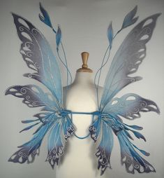 Posie wings in blue and purple by On Gossamer Wings, via Flickr - attach to a child's chair