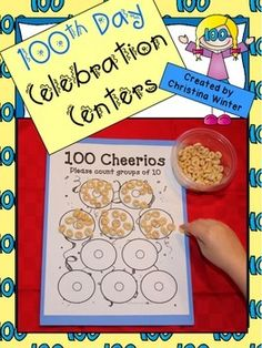 100TH DAY OF SCHOOL CELEBRATION CENTERS {WITH EDITABLE PARENT LETTERS}