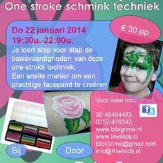 Workshop one stroke techniek...Geef je nu op!!!