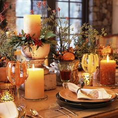 Loving the warmth of this table. Would be lovely for a fall weding