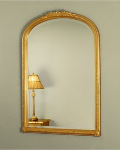An Attractive Classic Arched Portrait Mirror With Clear Bevelled Glass And Elegant Time Honoured Design