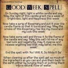Good week spell