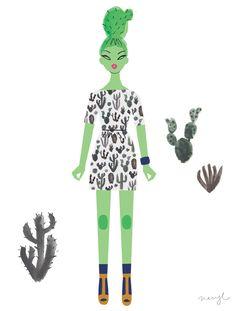 Gorman's Desert Night's dress. Print available  here.