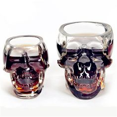 Creative Cup Crystal Skull Vodka Wine Bottle Beer Mug Pirates Glass My Water Bottle Home Supply Bar Tools
