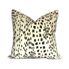 Brunschwig & Fils Les Touches Black Designer Pillow Cover - 1 SIDED OR 2 SIDED - Choose Your Size