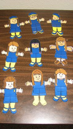 Our Daisy Paper Dolls for our Kaper Chart...so proud of the girls!  Free printable paper dolls in GS uniforms available from makingfriends.com