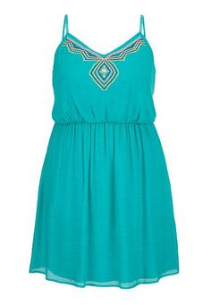 embroidered front gauze plus size dress (original price, $49) available at #Maurices