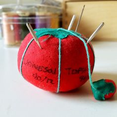 Tomato pincushion tattoo