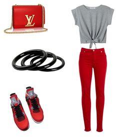 """Jordan Style #4"" by nathaliemunoz101 ❤ liked on Polyvore featuring moda, NIKE, Hudson Jeans e Furla"