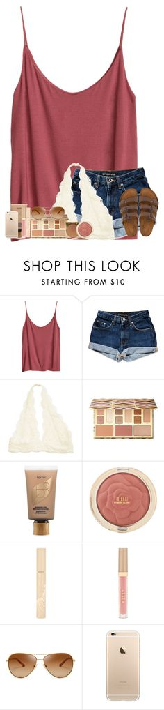 """""""There's pics of the camp in the items ( I drove the boat !!)"""" by abigailcdunn ❤ liked on Polyvore featuring H&M, Sephora Collection, Stila, tarte, Tory Burch and Birkenstock"""