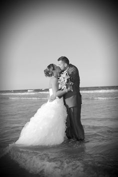 black /white of couple kissing in water Wedding Bride, Our Wedding, Wedding Dresses, Couple Kissing, Soul Mates, Inevitable, Grooms, Happily Ever After, Kisses