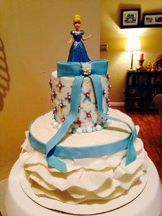 Princess Cinderella ruffle cake