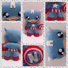 Capitán América personalizado con la inicial del niño