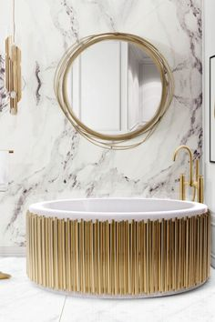 Marble finishes have become a bathroom trend in recent years in interiors.