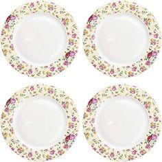 Amazon.com : porcelain rose plates Townhouse, Decorative Plates, Porcelain, Amazon, Rose, Tableware, Kitchen, Home Decor, Porcelain Ceramics