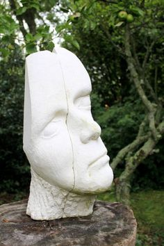 Tervoux Stone Patrick Barker titled: 'Too Faced (stone Carved sculptures of Man`s head/Bust statues/sculpture)'. Yard Sculptures, Stone Sculptures, Sculptures For Sale, Modern Sculpture, Abstract Sculpture, Sculpture Art, Garden Sculpture, Statues For Sale, Outside Decorations