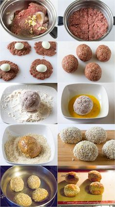 step-by-step instruction to make scotch egg. An English tradition but  these are served in the pubs in Jamaica also. Great for when you're drinking!