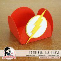 Arquivo de Corte Forminha The Flash by Vika Matos Bolo Flash, Power Ranger Party, Wonder Woman Party, Flash Gordon, Ideas Para Fiestas, Superhero Party, How To Make Paper, The Flash, Diy Party
