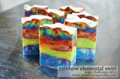 Soap Challenges 2013: Rainbow Elemental Swirl Soap, Week Two
