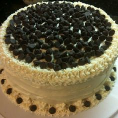 Chocolate buttercream cake (since The Olive Garden doesn't offer their Chocolate Lasagna cake anymore, I had to make my own)