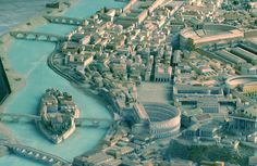 Researchers used this model of ancient Rome as a basis for their digital project.