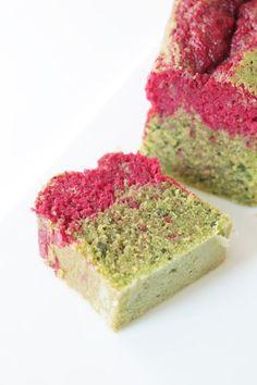 Cake bicolore matcha framboise - Recette Olivia Pâtisse x Kumiko Matcha