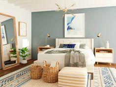 The 20 Best Bedroom Designs of 2020   Modsy Blog Modern Coastal, Coastal Decor, Mid-century Modern, Coastal Style, Modern Design, Contemporary, Beach House Bedroom, Home Bedroom, Bedroom Ideas