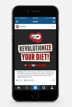 """Second screen of the video promoting healthy diet. The end promotes the tagline """"Revolutionize Your Diet"""". Get Healthy, Healthy Recipes, People Eating, Student Work, Junk Food, Revolution, University, Graphic Design, Diet"""
