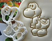Super Mario Yoshi Full Body Cookie Cutter / Made From Biodegradable Material / Brand New / Party Favor Kids Birthday Baby Shower Cake Topper
