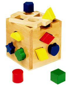Shape Sorting Cube Wooden Toddler Toy by Melissa & Doug by Melissa & Doug