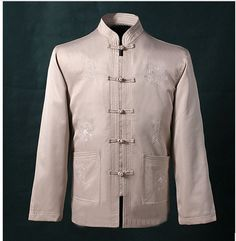 95230b7c552d Men tang suit, chinese traditional tang suit, father's clothing, mandarin  collar pattern, men's coat jacket, plus size choice