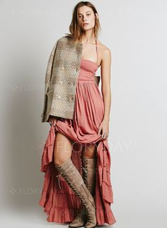 Dresses - $47.34 - Cotton Solid Sleeveless Maxi Sexy Dresses (1955098740)
