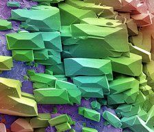 Sugar crystals, SEM