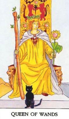 Značenje tarot karte Kraljica štapova