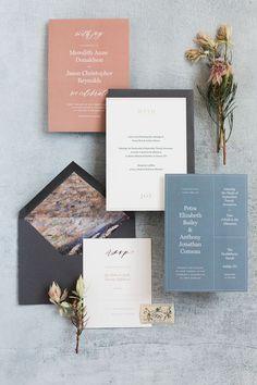 modern blue wedding invitations/ spring wedding invitations/ elegant spring wedding invitations/ bold wedding invitations