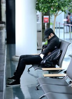 INFINITE | Kim Myung Soo (L) | 141025 | Gimpo Airport | tumblr | © 애정의주인 | do not edit/crop/remove the watermark
