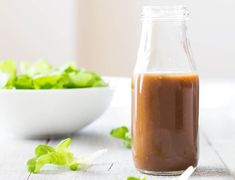 Maple Mustard Balsamic ~ The absolute very best best best salad dressing in the world! This Maple Mustard Balsamic Dressing recipe will end up being your one and only forever! Real Food Recipes, Vegan Recipes, Cooking Recipes, Fodmap Recipes, Vegan Food, Delicious Recipes, Paleo Salad Dressing, Soup And Salad, Clean Eating Recipes