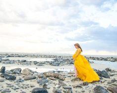 Vivian maternity dress aqua  maternity Gown  Sheer maternity